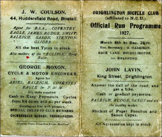 Bicycle Club Programme, Drighlington