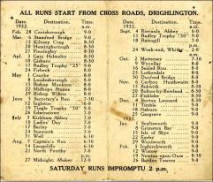 Bicycle Club Programme, Drighlington, 1932-33 - Part 2