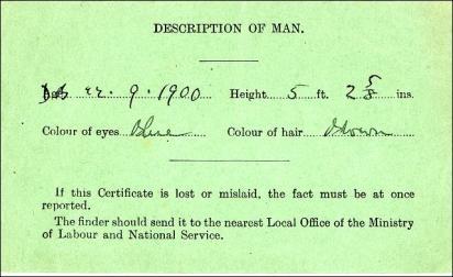 National Service Acts, description of man