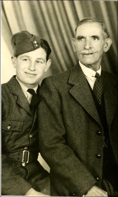 William Dove with his grandfather Raymond Dove