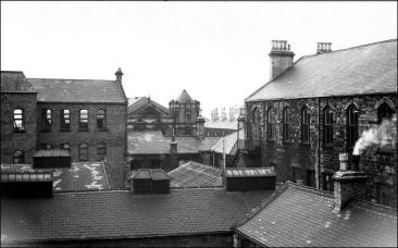 The back of Midland Bank, Queen St, Morley