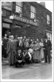 Group outside the New Scarborough pub Tingley