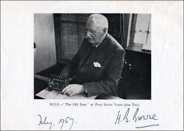 Portrait of H B Browne, with his signature