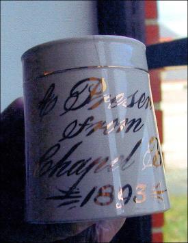 Commemorative mug for the Zion Chapel