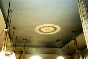 View of ceiling in Morley Zion Chapel