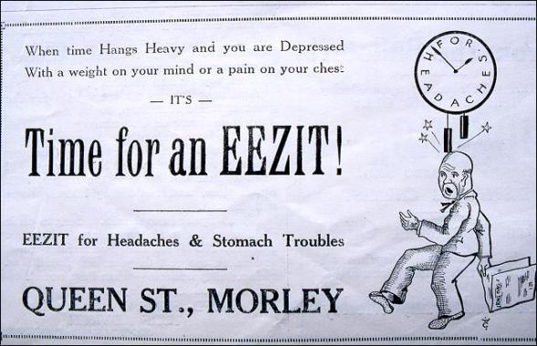 Advert for Eezit Powders