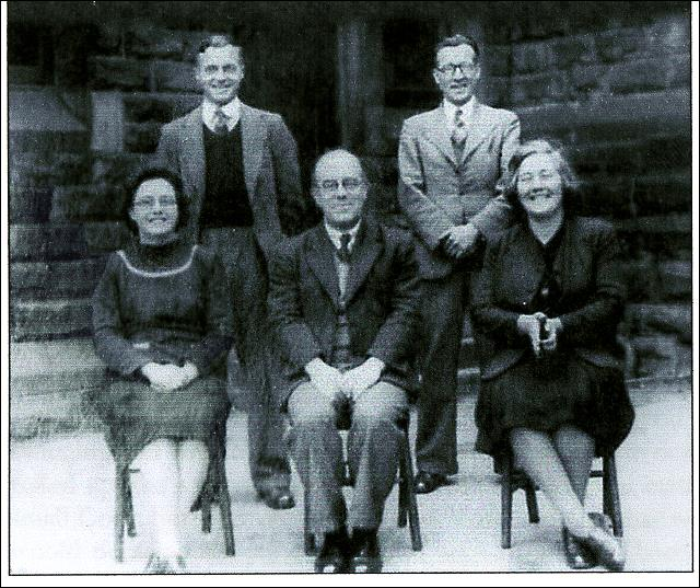 Headmaster, Mr Harry Woolfenden and Teachers at Cross Hall School