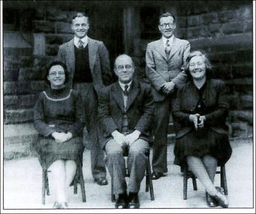 Headmaster, Mr Harry Woolfenden and Teachers at Cross Hall School