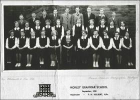 School photograph of Morley Grammar School