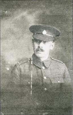 Percy Fielding in his soldier's uniform during World War 1