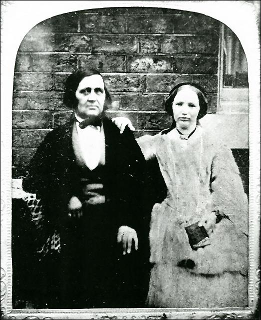 Photograph of Manoah Bentley and daughter Ann
