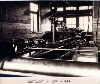 'Gertrude', the steam engine used in the Crank Mill