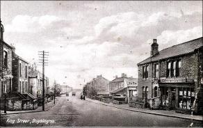 Looking down King Street, Drighlington from Three Road End