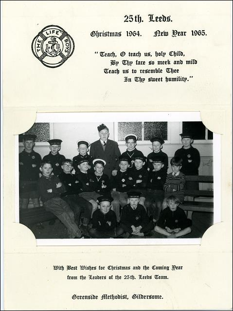 Gildersome Boys Brigade, Christmas Card