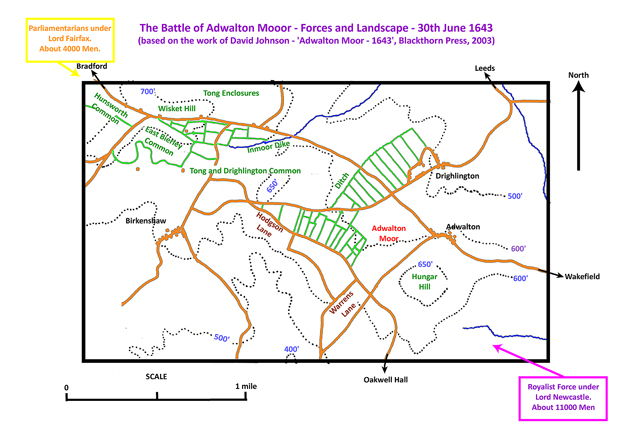 Forces and Landscape at the Battle of Adwalton Moor