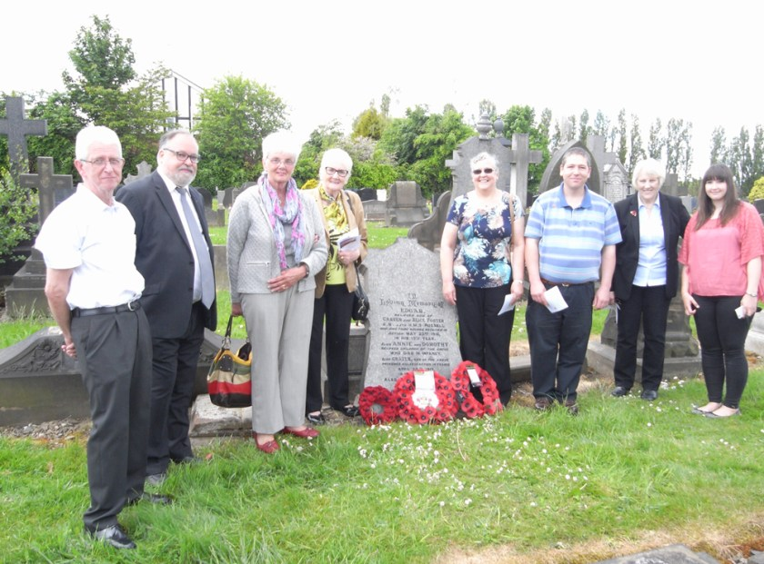 Relatives of Edgar Foster and Councillors by his grave