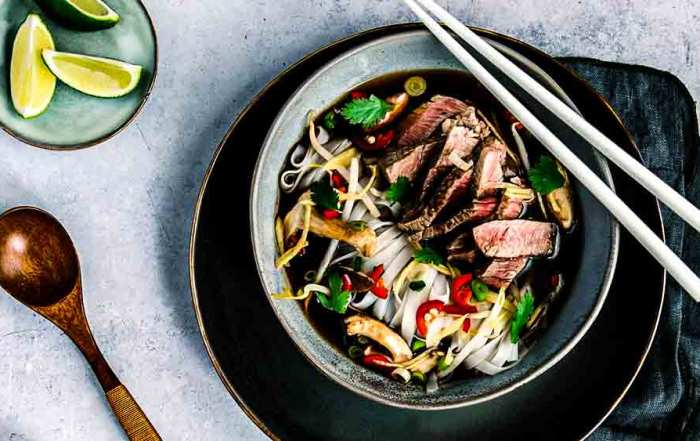 beef pho in bowl