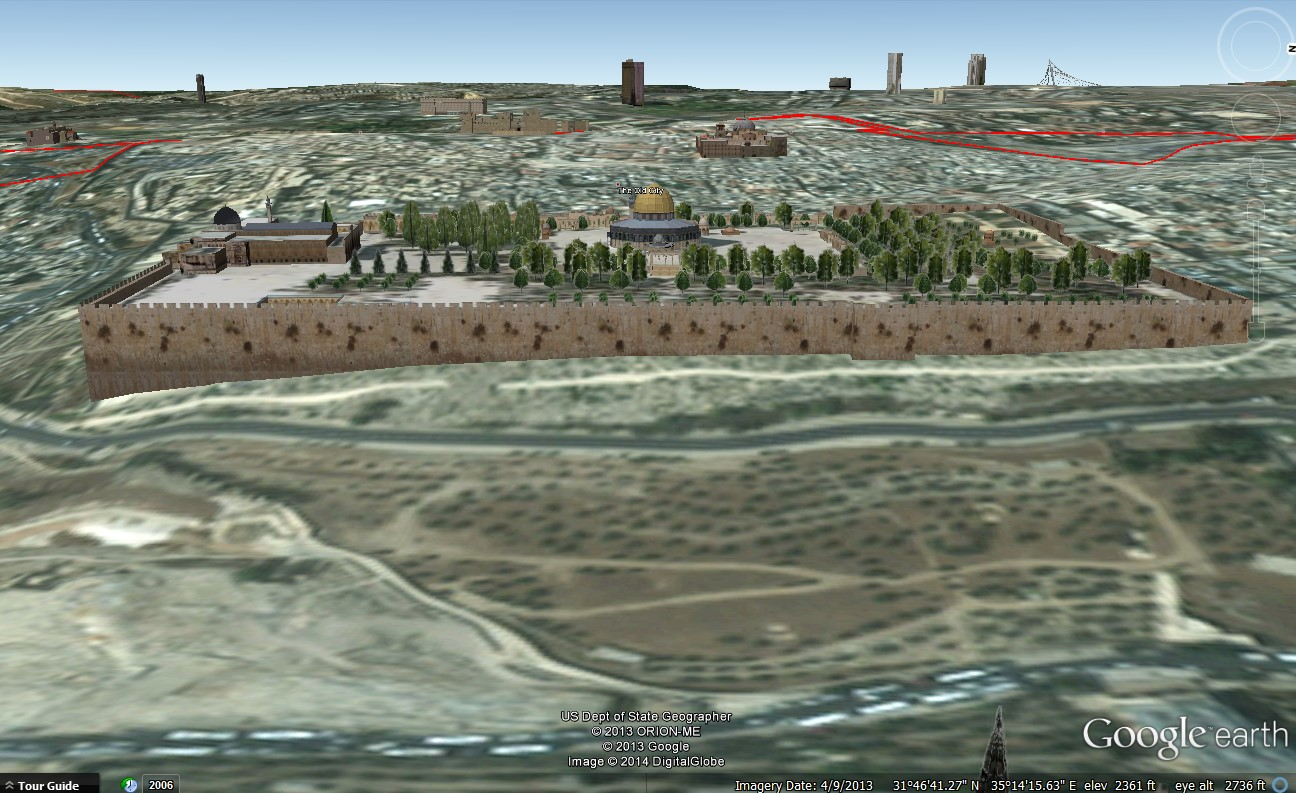Temple Mount Google Earth
