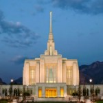 Ogden Temple Appears on Front Cover of Fashion Magazine