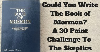 "We have all heard the claim that Joseph Smith ""Wrote"" the Book of Mormon. I invite you to take the 30 point challenge to write The Book of Mormon!"