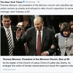 How the New York Times Chose to Report Death of President Monson