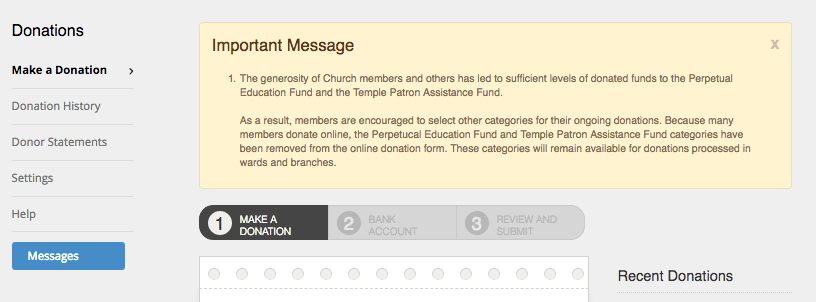 perpetual education and temple patron funds removed from online
