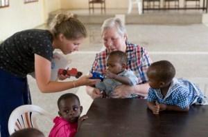 LDS women caring for children