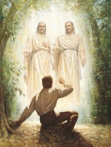 LDS First Vision, Joseph Smith sees God and Jesus