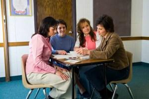 LDS women in meeting