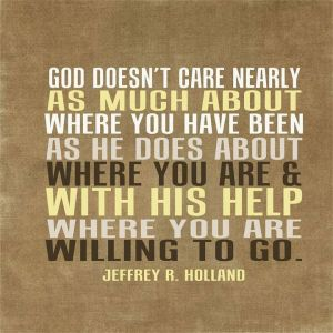 God cares about where you are going