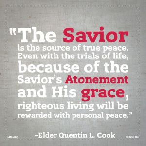 Peace comes from righteousness