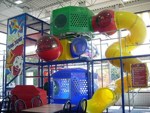 Image result for big tube slide at mcdonalds playground