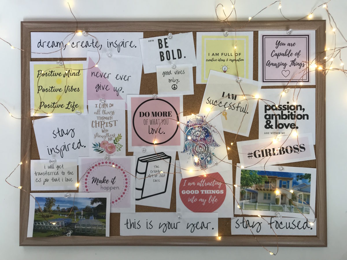 Image result for vision board examples 2020