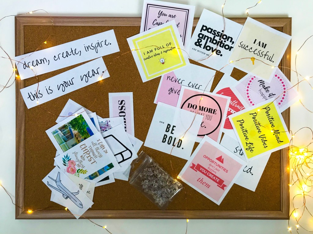 vision board inspiration, vision board example, vision board template, how to create a vision board that works