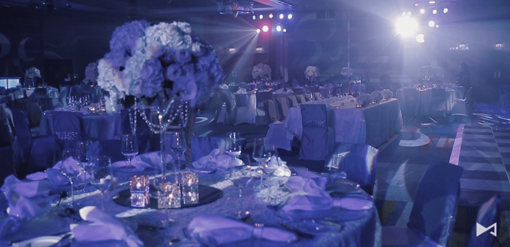 Jumeirah Beach Hotel Wedding Table Setup