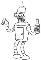 Coloring Pages Futurama Game Of Drones Morning Kids