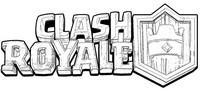 Desenho para colorir Logo Clash Royale