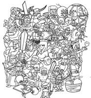 Desenho para colorir Clash of Clan & Clash Royale