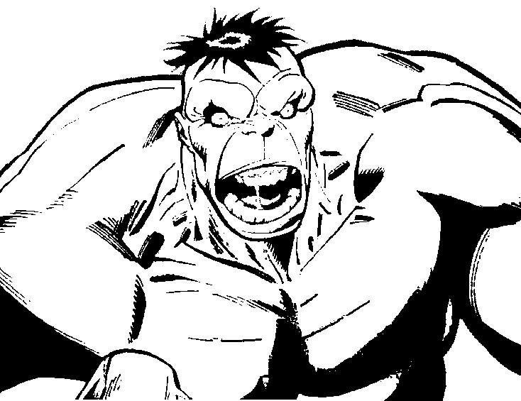dibujo para colorear hulk 10