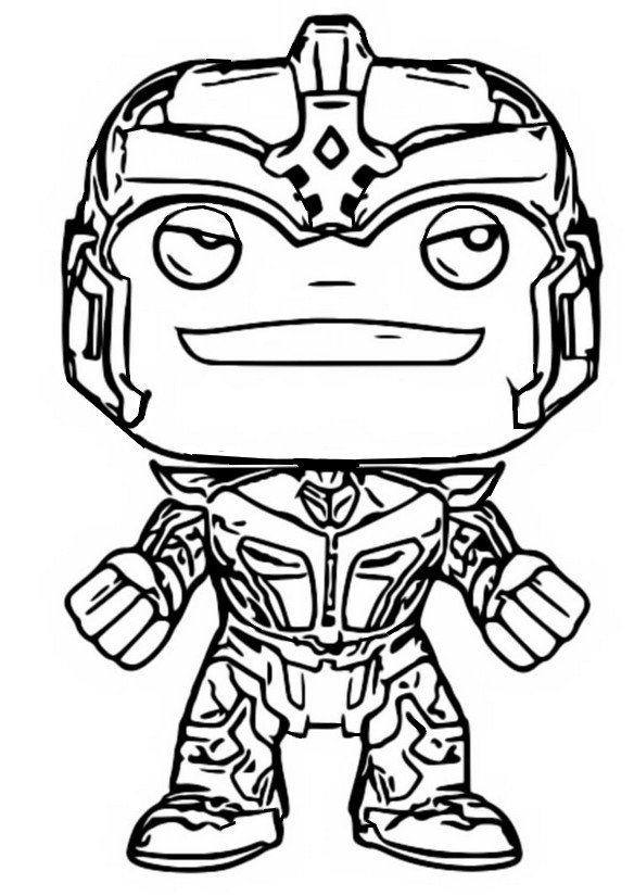 Coloring Page Funko Pop Marvel Guardian Of The Galaxy Thanos 10