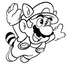 Coloring Pages Super Mario Morning Kids