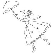 mary poppins coloring pages # 46