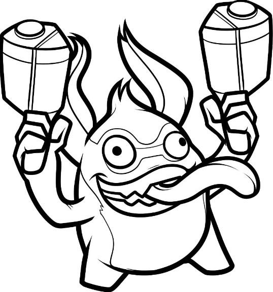 Skylanders Spyros Adventure Undead Ghost Roaster Coloring Page ... | 576x538