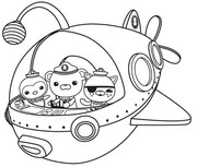 coloring pages the octonauts drawing