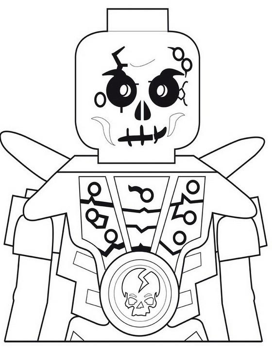 dibujo para colorear ninjago chopov esqueleto de la tierra 10