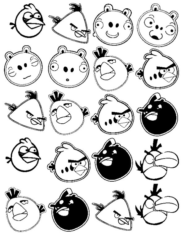 coloring pages angry birds # 17
