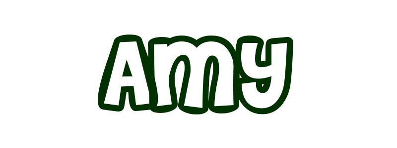 name amy colouring pages