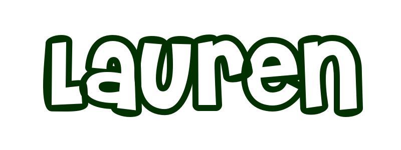 first name lauren in vase for