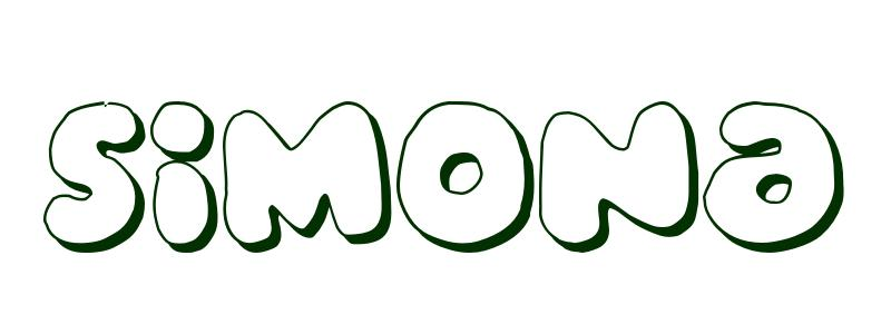 coloring page first name simona