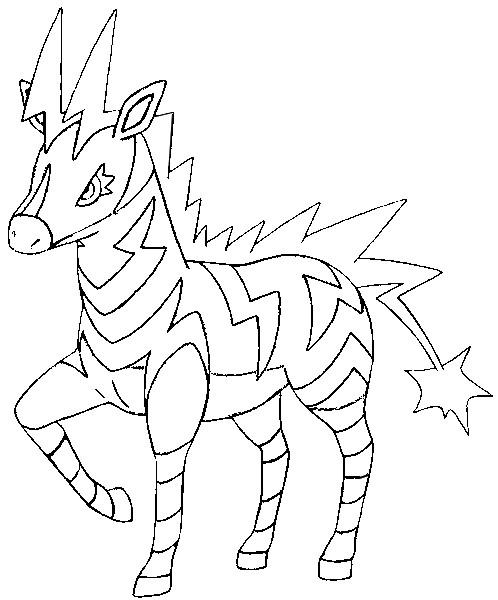 disegni da colorare pokemon zebstrika disegni pokemon